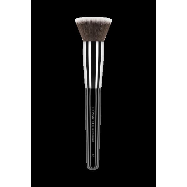 Pensula make-up Leonardo 13 Fond de ten, rotundă, păr sintetic