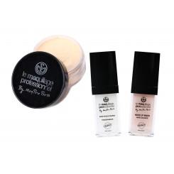 Pachet pudra + baza ten gras 25ml + baza Make-up Mixer 25 ml Maqpro Paris